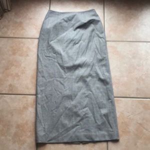 3/$30 Ann Taylor Stretch Gray Wool Blend Skirt 8